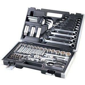 Rothewald 92 Teile Zollwerkzeug/Werkzegsatz/Knarrenkasten - 68,91€ = 19% Ersparnis