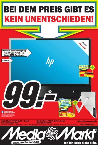 """[Media Markt Erfurt/Online] HP Pavilion X2401 24"""" FULL-HD LED Monitor für 99€ (Vergleichspreis: 165€)"""
