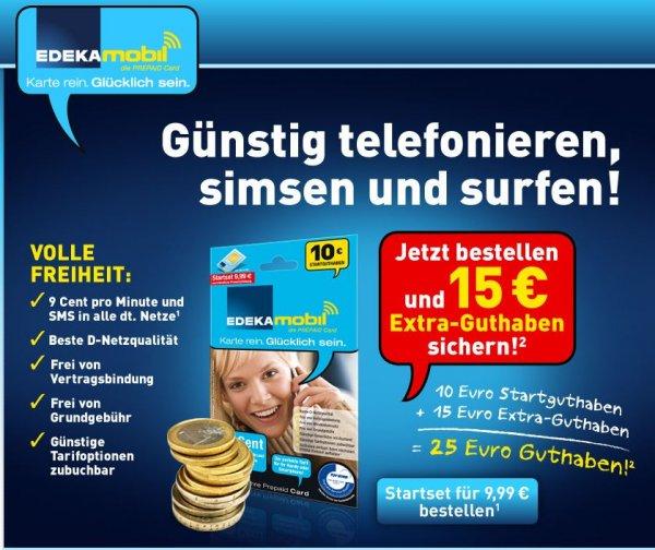 Super Deal: Derzeit gibt es bei Edeka-mobil ein günstiges Prepaid-Angebot!