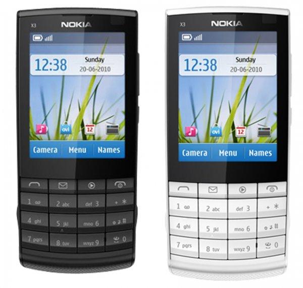 Details zu  Nokia X3-02.5 Touch and Type Dark and White für nur 59€