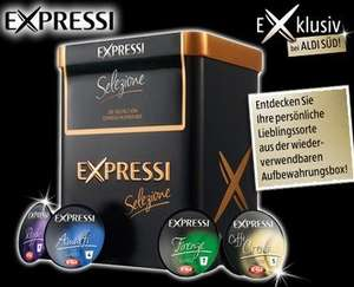 Aldi-Süd M-Haidhausen (evtl. in weiteren Filialen): Expressi Kapselbox Selezione für 2,99 Euro anstatt 4,99 Euro