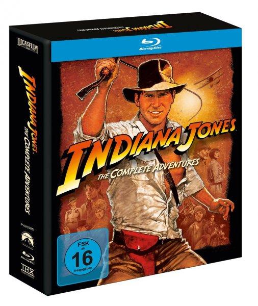 Indiana Jones The Complete Adventures [deutsche Blu-ray Box] @ Bol / Buch oder Thalia für 29,37€ + Qipu(5%) oder Payback möglich