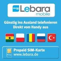 Gratis Prepaid SIM-Karte von Lebara für In- und Ausland