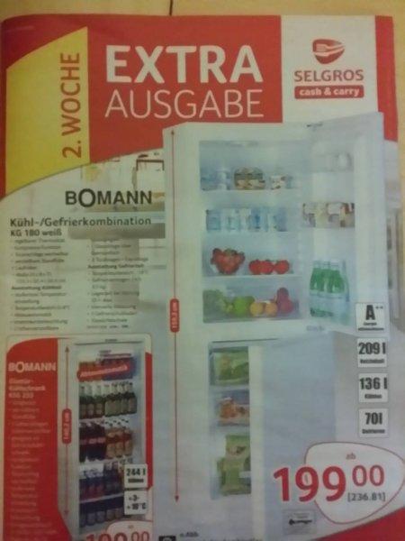 [Offline] Kühl-/Gefrierkombination Bomann KG180 weiß @Selgros Cash&Carry