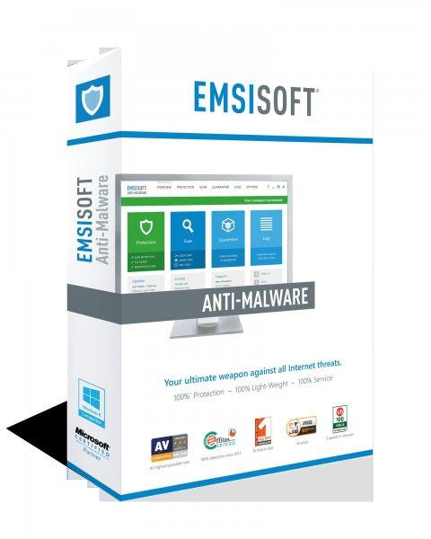 Emsisoft Anti-Malware 9 für 1 PC (1 Jahr) nur 9,00 € anstatt 39,95 € (77% Rabatt)