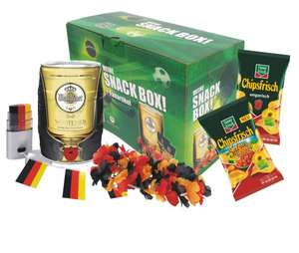 5l Warsteiner Fass + 30€ bet-at-home Gutschein + 2 Packungen Chips + Deutschland Fan Artikel