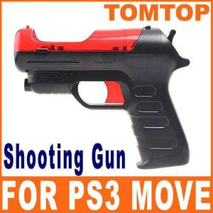 Shooting Game Gun Pistol for PS3 Move Controller Black