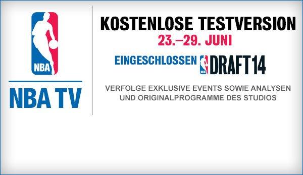 NBA TV inkl. Draft kostenlos bis Juli