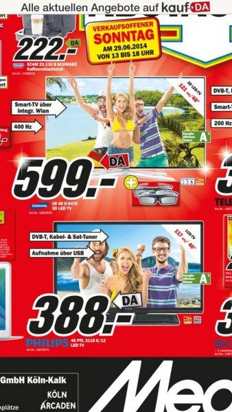 Samsung UE 48 H 6470 VK 599,- MM Kalk am Sonntag