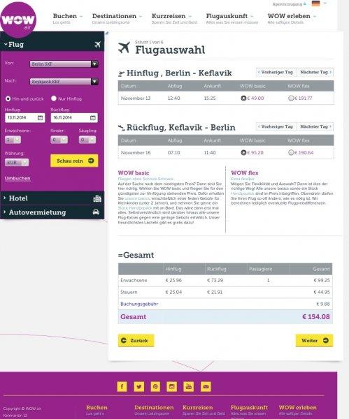 Berlin - Reykjavik , Flug für 117,83 € Hin-und Zurück
