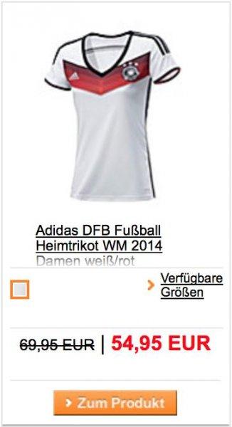 Adidas DFB Fußball Heimtrikot WM 2014 Damen weiß/rot @sportscheck