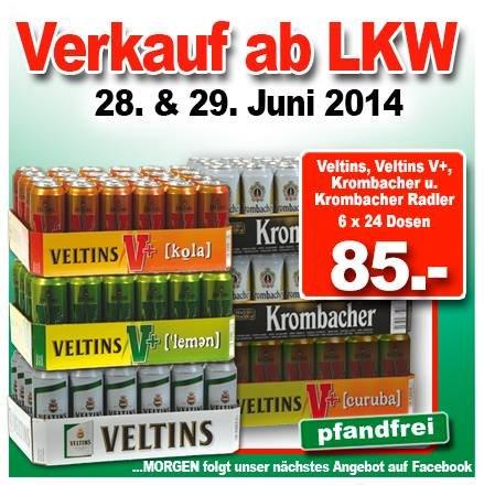LOKAL Dosenbier (Krombacher / Veltins) 6x24x500ml (pfandfrei)