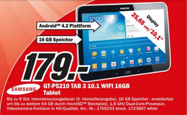 (Media Markt Lokal ) Samsung Galaxy Tab 3 GT-P5210 Wifi 10.1 16GB  33100 Paderborn