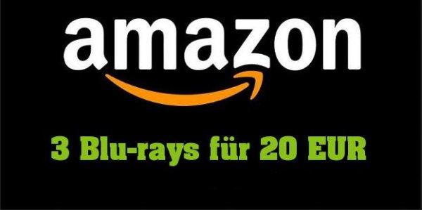 Amazon 3 Blu-rays für 20 EUR über 384 Blu-rays