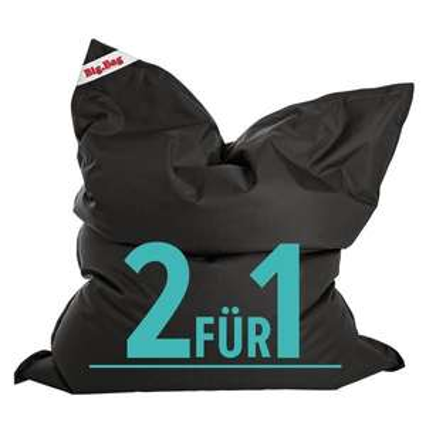 Sitzsack - Sitting Point Brava BIG BAG L schwarz ! 2er-Pack ! 69,95€ inkl. Versand @ GetGoods