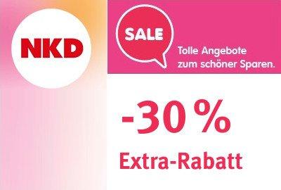 30% beim NKD Sale (Extra-Rabatt auf bereits reduzierte Artikel)