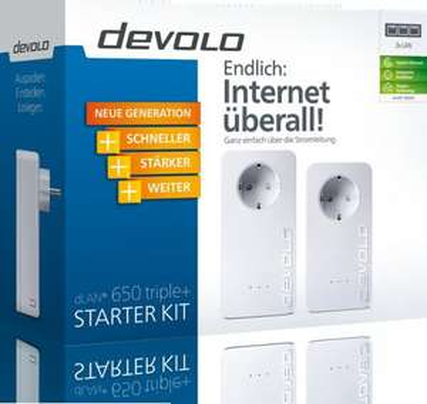 Devolo dLAN 650 triple+ Starter Kit für 111,- inkl. Versand @comtech