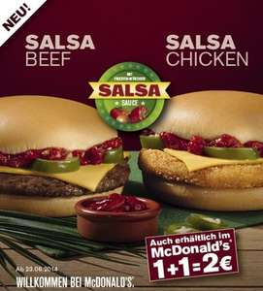 Neuer Burger bei McDonalds! Der Salsa Chicken / Beef - Deutschlandweit
