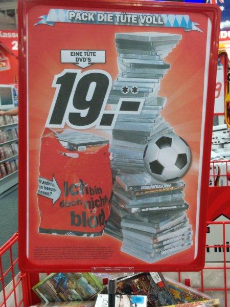 """[LOKAL?!?] """"Eine Tüte voll DVDs"""" bei Media Markt (19€)+ Geschenk bei jedem Einkauf"""