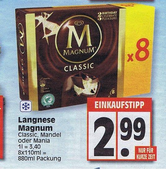 [ EDEKA ] Langnese Magnum Eis 8er Pack 880ml für 2,99 Euro ab Montag