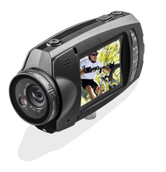 Hyundai Screen Lense Full HD Sportkamera (5 Megapixel CMOS-Sensor, 5 cm (2 Zoll) LCD, HDMI, drehbares Objektiv)