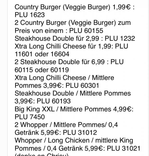 Gratis burger bei Burger King