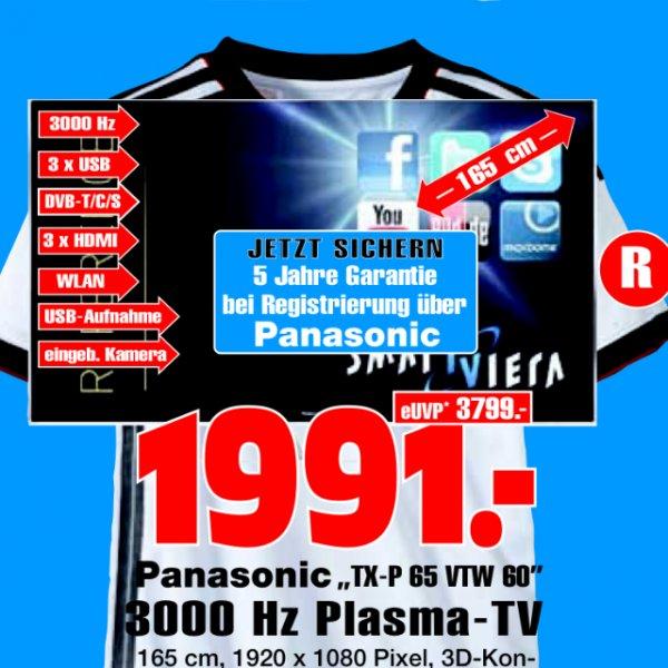 (Lokal Gelsenkirchen) Panasonic P65VTW60 65 Zoll Plasma TV + 5 Jahre Garantie