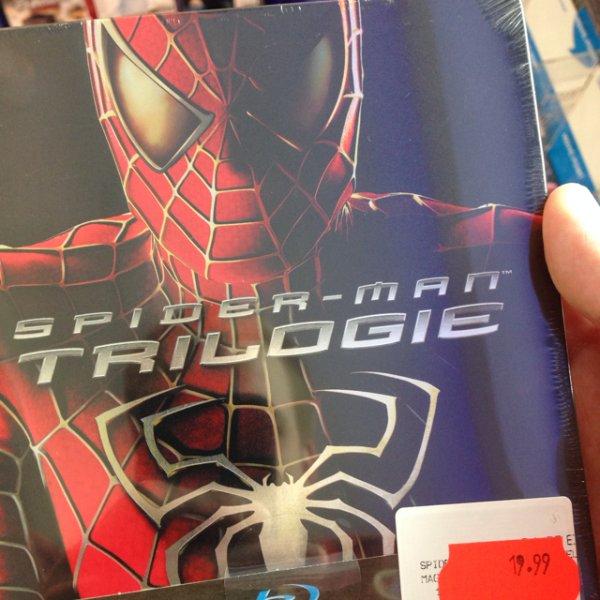 Spider-Man Trilogie Steelbook (BluRay) - Lokal Münster