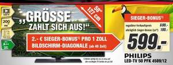 TV´s bei Medimax (Bundesweit) 2€ Rabatt je Zoll (ab 46 Zoll)
