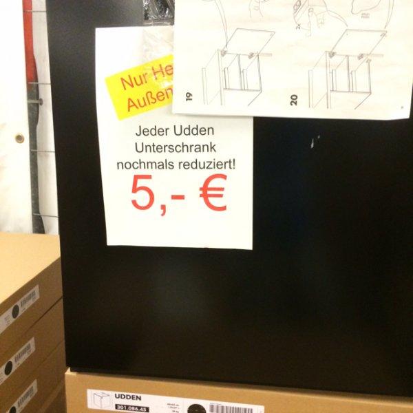 [Ikea München Brunnthal] Fundgruben ausverkauf, Küchen Unterschränke 5€, Teller 0,50€ uvm.