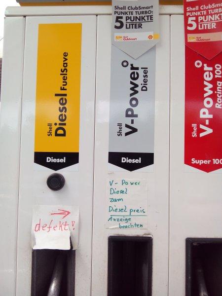 Shell V-Power Diesel zum normal Diesel Preis 1,37€ (Braunschweig)