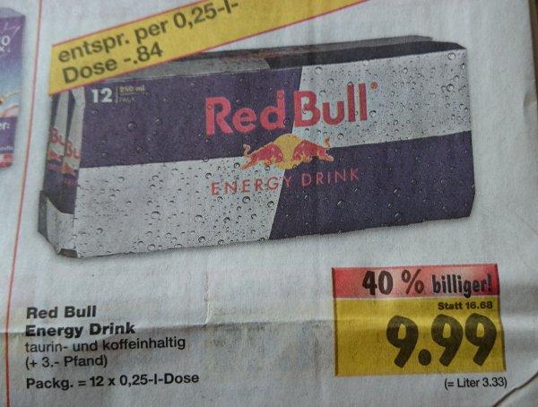 Red Bull 12er Pack 9,99€ im Kaufland Merseburg evtl. bundesweit