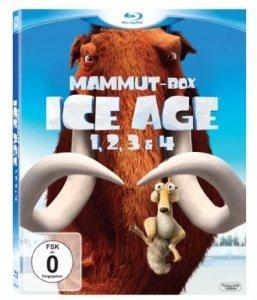 [AMAZON] Ice Age 1, 2, 3 und 4 Blu-ray in Mammut-Box für nur 19,99 € inkl. Versand (Vergleich 29,-)