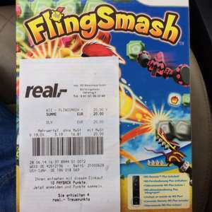 Real Ingelheim - Wii Remote Plus Schwarz mit Flingsmash