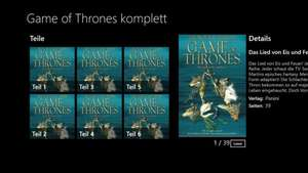 Game of Thrones - Das Lied von Eis und Feuer (komplett 1-6) Comic App @ MSStore