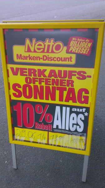 [Lokal] Netto Neheim 10% auf alles nur 29.06.2014