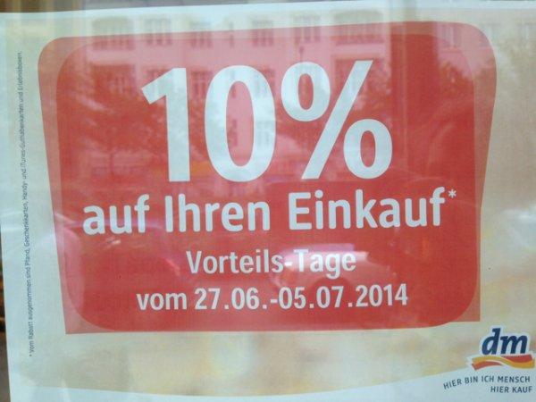 [LOKAL Berlin] 10% auf alles bei DM Müllerstr. - Vorteils-Tage bis 05.07.