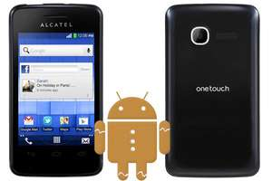 """Alcatel One Touch T'POP Duo, 3.5"""" Zoll, Android 2.3 DUAL-SIM Smartphone"""