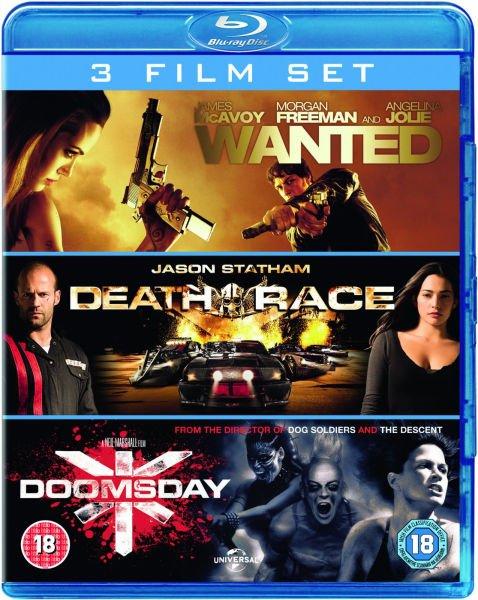Blu-ray Box - Wanted & Death Race & Doomsday (3 Discs) für €8,73 [@Zavvi.com]