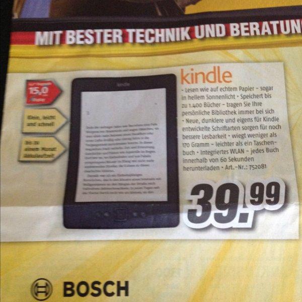 (Offline) Kindle eReader für 39,99€ @ Medimax