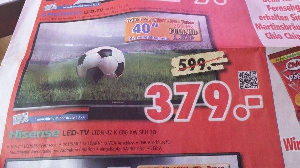 [lokal Udo Lermann] Hisense ltdn 42 K680 idealo:460€