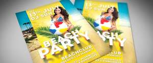 Kostenlos: Beach Party Summer Flyer PSD Vorlage