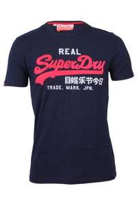 Superdry Vintage Logo Herren T-Shirt Tri-Colour Entry in 10 Farben