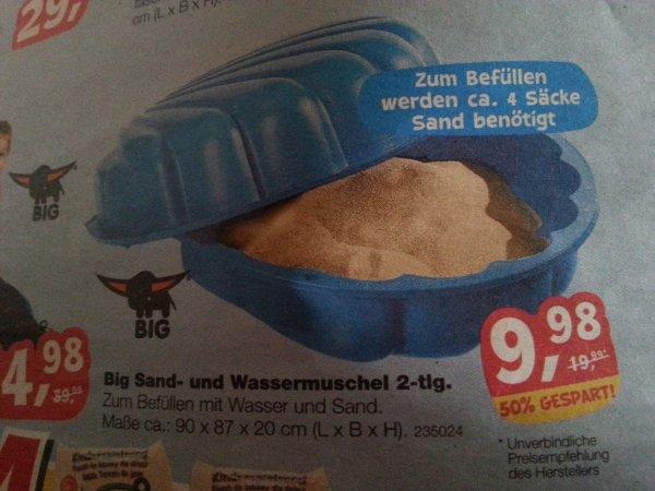 BIG Sand- und Wassermuschel bei Toys r us