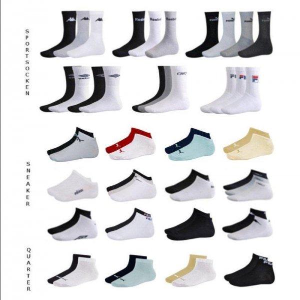 Ebay WOW 12er Pack Socken Adidas/Nike/Puma/Reebok/Fila/Umbro/Kappa Sneaker oder Quarter
