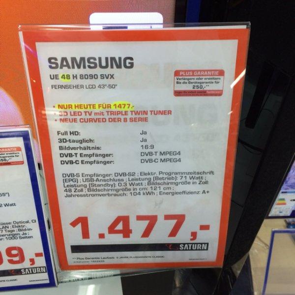 Nur heute ! Samsung 48H8090 für 1477€ im Saturn Rhein-Ruhr Zentrum , Mülheim an der Ruhr