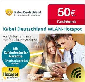 [Qipu] WLAN-Hotspot von Kabel Deutschland für Geschäftskunden- 50€ Cashback auf WLAN-Hotspot Business Tarif