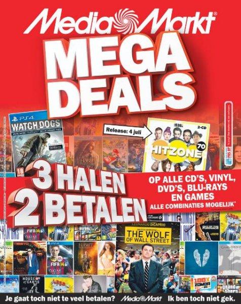 [lokal] MediaMarkt Niederlande 3 für 2: 3 Games, CD's,DVD's, Vinyls, oder Blurays kaufen und 2 zahlen
