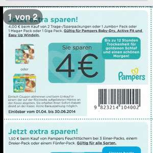 Pampers bei Real für ca 12 Euro mit Coupon