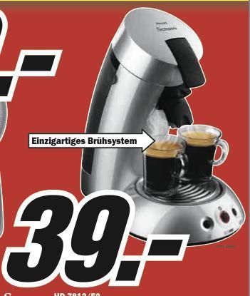 Philips Senseo HD 7812/50 Pad-Kaffeemaschine @Media Markt Baden-Baden, lokal, 39€